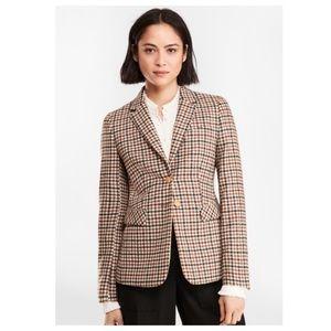 Brooks Brothers Checked Wool Twill Blazer